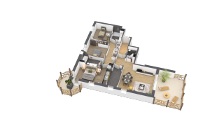 appartement A002 de type 4 pièces
