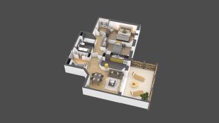 appartement A005 de type 3 pièces