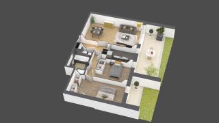 appartement A701 de type 3 pièces