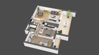 appartement A801 de type 3 pièces