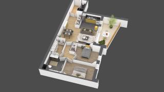 appartement A802 de type 3 pièces