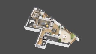 appartement A803 de type 3 pièces