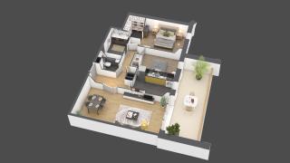 appartement A804 de type 3 pièces
