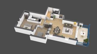 appartement B002 de type 3 pièces
