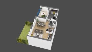 appartement B003 de type 3 pièces