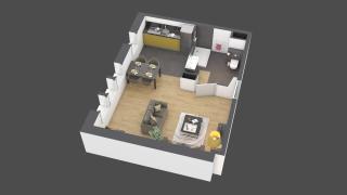 appartement B004 de type 1 pièce