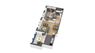 appartement B103 de type 2 pièces