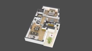 appartement B701 de type 3 pièces
