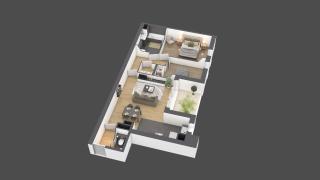 appartement B703 de type 3 pièces