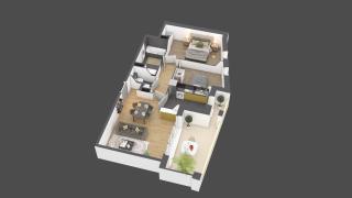 appartement B801 de type 3 pièces