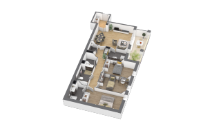 appartement B802 de type 4 pièces