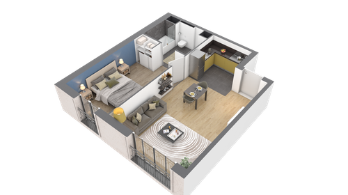 appartement A16 de type T2